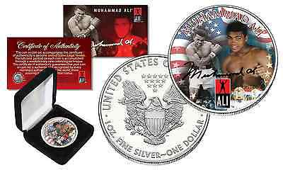 MUHAMMAD ALI Officially Licensed 1 oz. PURE .999 FINE SILVER AMERICAN U.S. EAGLE