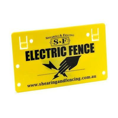 1 x Electric Fence Warning Sign Energiser Farm Solar Fence Fenceline Poly