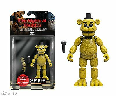 """New Authentic Five Nights At Freddy's Golden Freddy 5"""" Figure Sping Trap"""