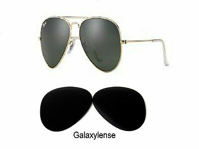 Galaxy Replacement Lenses For Ray Ban RB3025 Aviator Black 58mm Polarized