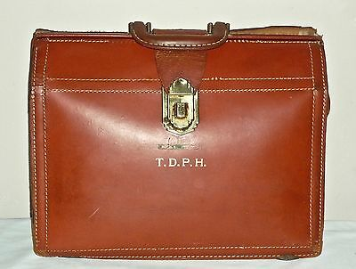 Vintage Pre MidCentury Rexbilt Bon-nald Cow-hide Leather Attache Dentists RX BAG