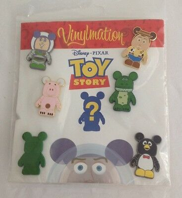 Disney Pixar Toy Story Vinylmations 7 Pin Booster Pack - Series 1 - New