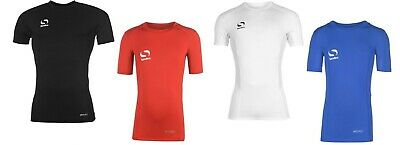 Compression Base Layer Junior Kids Sondico Soccer Skins Short Sleeve T- Shirt