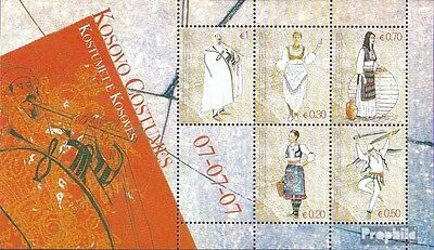 kosovo (UN-Administration) block7 mint never hinged mnh 2007 Costumes