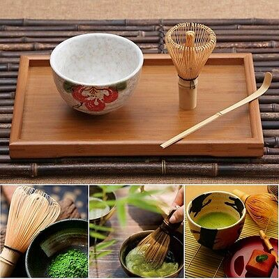 Matcha Whisk + Chashaku Tea Scoop + Tea Bowl Chasen Ceramic Japan Tea Ceremony