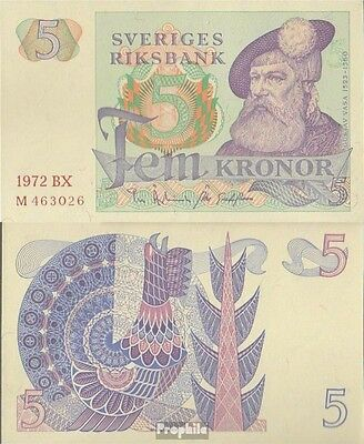 Sweden Pick-number: 51c (1972) used (III) 1972 5 Kronor