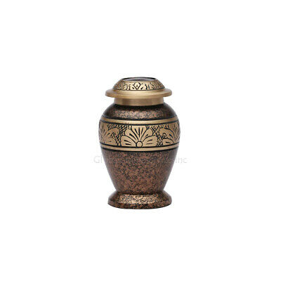Copper Marble Small Cremation Keepsake Urn, Funeral Urn for Ashes UK