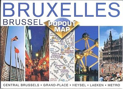 PopOut Map of Brussels, Begium