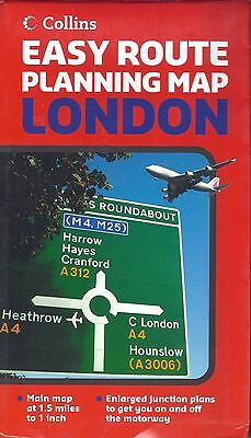 Map of London, by Collins Easy Route Planning Map