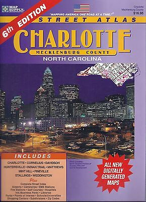 Charlotte & Mecklenburg County, North Carolina, Street Atlas, by Map Supply Inc.