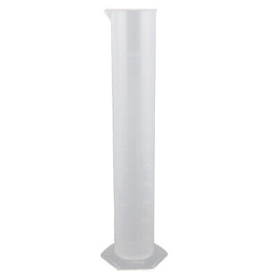 1000mL Clear White Plastic Hex Base Graduated Cylinder