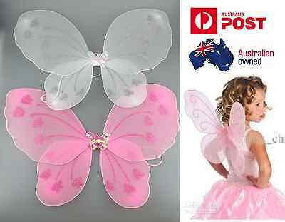 Child baby Butterfly Fairy Angel Wings Costume Dance Party Halloween Christmas