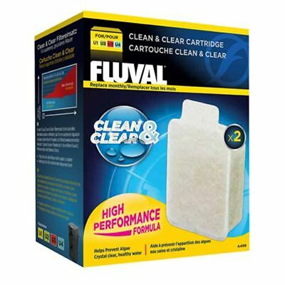 Fluval U Clean & Clear Cartridge (2 Pack) *GENUINE* Filter Media U1 U2 U3 U4