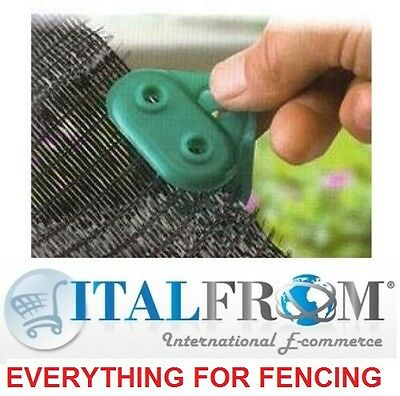 10 pcs clips /stoppers for wind/screen/shade netting - wire mesh fencing