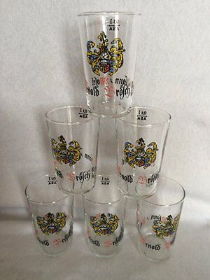 24 x Vintage Boxed Advertising German Shot Glasses (Vera Glass)