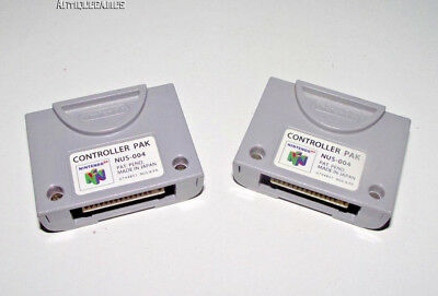2 x Genuine Nintendo N64 Controller Memory Pack Card Replacement Preloved Pak