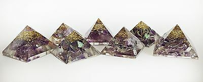 REIKI ENERGY CHARGED NATURAL AMETHYST CRYSTAL ORGONE PYRAMID (Flawed Seconds!)