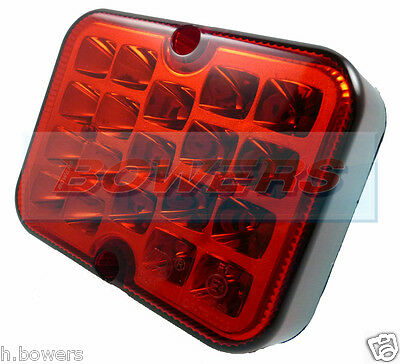Ring Caravan Car Trailer Towing E Approved Compact Square Rear Red Led Fog Lamp