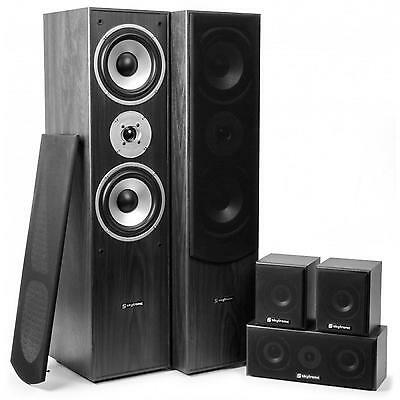 Sistema Home Cinema Theater 5.0 Potente Impianto Audio Altoparlanti Diffusori