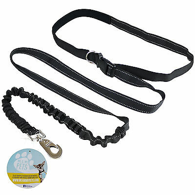 Me & My Pets Hands Free Adjustable Waist Dog Lead Leash Walking/running/jogging