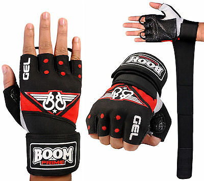 Weight Lifting Gloves Fitness Workout Gym Wrist Support Straps Body Building