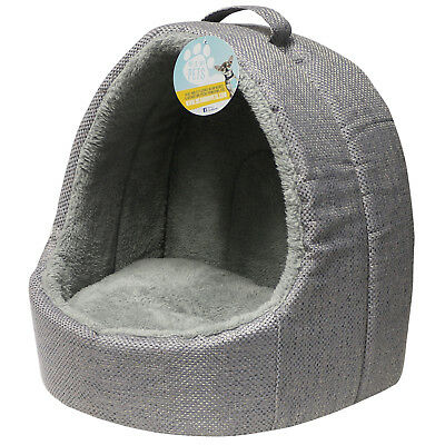 Me & My Grey Soft Fleece Igloo Cat Bed Pet Kitten/dog/puppy Warm/snug Cave Pod