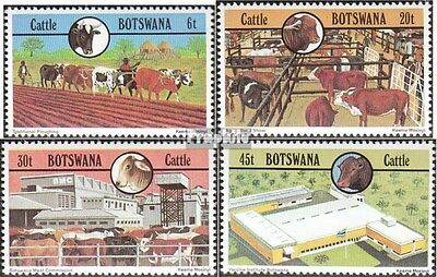 Botswana 283-286 mint never hinged mnh 1981 Cattle