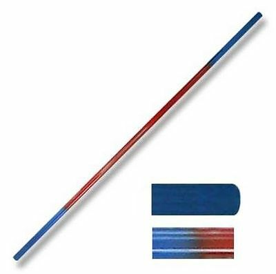 "Martial Arts Graphite Bo Staff Red/Blue 2 Sectional Toothpick 72"" 6ft Sticks"