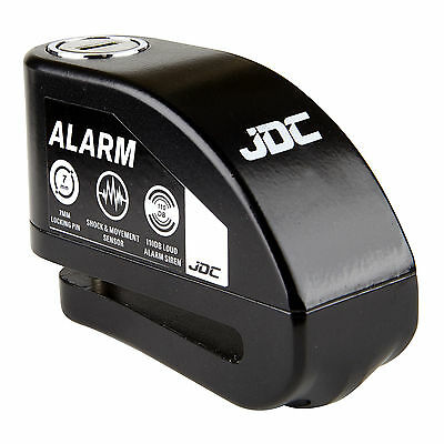 JDC MOTORCYCLE Motorbike Disc Lock ALARM - JAWS - Black