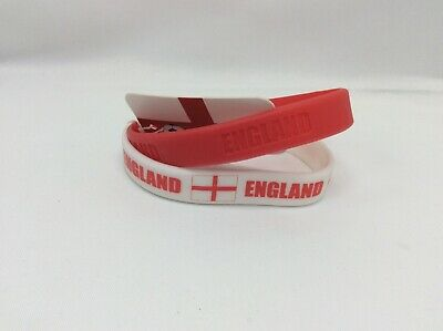 England Double pack wristbands in white and red Get ready for the World Cup