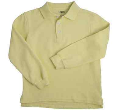 French Toast School Uniforms Long Sleeve Yellow Polo