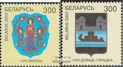 Belarus 478-479 mint never hinged mnh 2003 City Arms