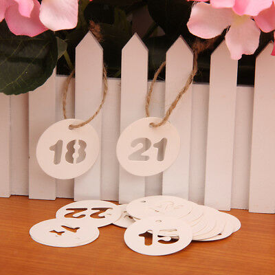24 x Number Paper Gift Hang Tags Wedding Label Number Luggage Xmas String