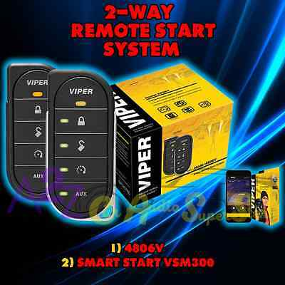 Viper 4806V 2 Way Car Alarm And Remote Start + Vsm300 Smart Start