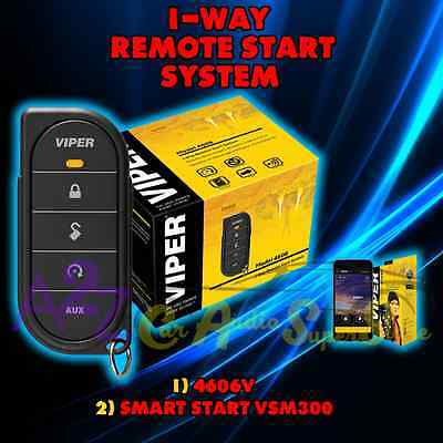 Viper 4606V 1 Way Car & Truck Remote Start + Keyless Entry + Vsm300 Smart Start