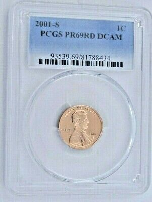 2001 S Proof Lincoln Memorial Cent - PCGS PR 69 RD DCAM Red Deep Cameo