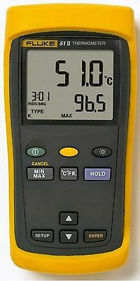 Fluke 51-Ii 51-2 Single Input Thermocouple Digital Thermometer New