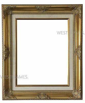 WEST FRAMES ESTELLE Antique Gold Wood Picture Frame with Natural ...