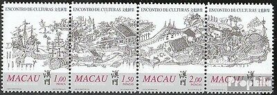Macao 1052-1055 quad strip mint never hinged mnh 1999 meeting the Cultures