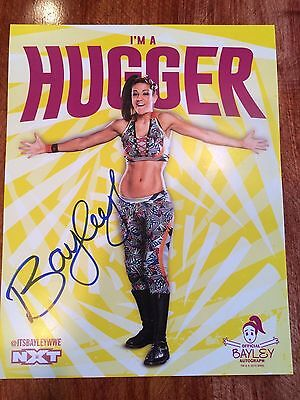 Bayley Signed Licensed WWE NXT 11X14 Photo Poster PSA/DNA Quick Opinion