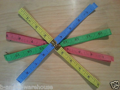 "1.5M 60"" Flat Tape Measure for Tailor Sewing Cloth Soft Body Measuring Ruler New"