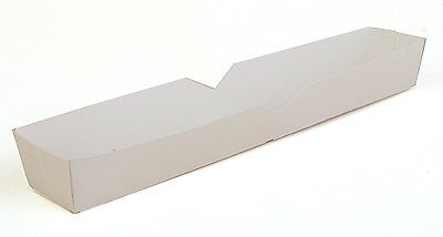 """Southern Champion Tray 0711 Hot Dog Food Tray, 10-1/2"""" Length, White (case Of 5"""