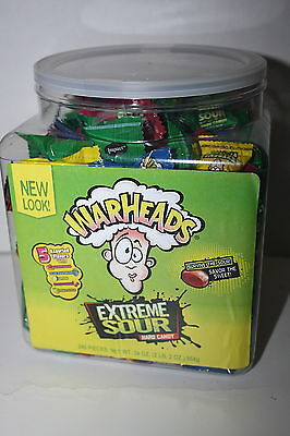 WARHEADS EXTREME SOUR 240 Pieces Assorted Flavours Hard Candy 964g Tub