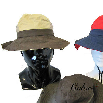 Color5 New Unisex Mens Outdoor Wide Brim  Camping Fishing Hiking Bucket hats