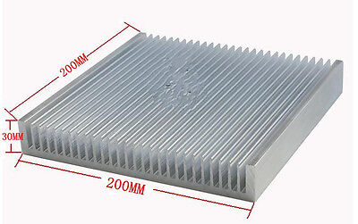 200x200x30mm Industrial Aluminum HeatSink for LED Power amplifier Strong cooling