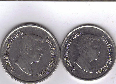 2 COINS from JORDAN - 5 & 10 PIASTRES (BOTH DATING 2000)
