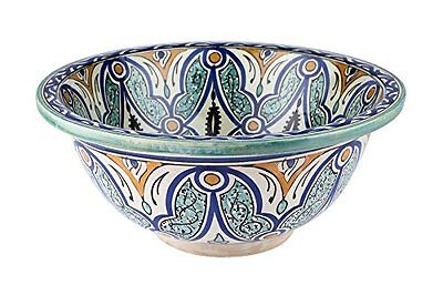 Seville Ceramic Hand painted Moroccan Bathroom Sink Basin ,Painted in/out