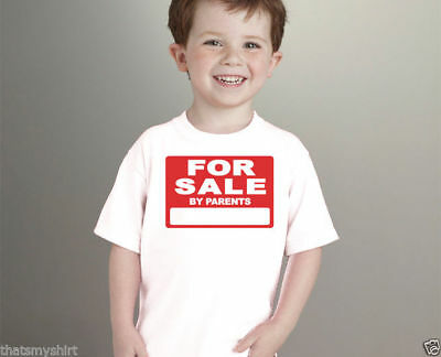 New Cute For Sale By Parents Kids T-Shirt Infant Toddler