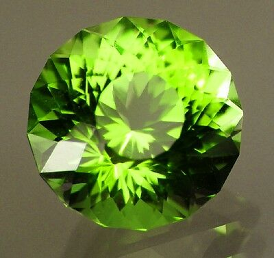 Demantoid Garnet - Natural - Round Brilliant - Rare!