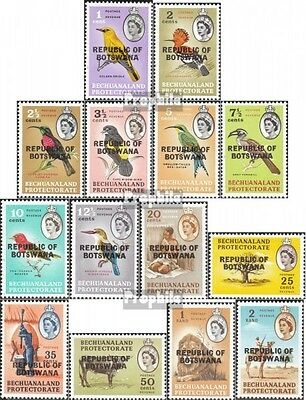 Botswana 5-18 mint never hinged mnh 1966 clear brands